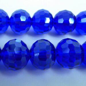 Facetterede krystalglasperler 12x10mm Blå