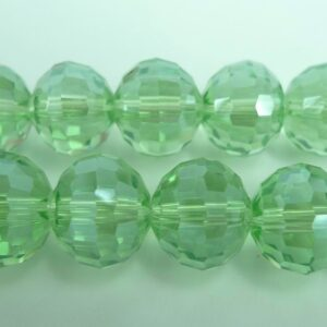 Facetterede krystalglasperler 12x10mm Peridot