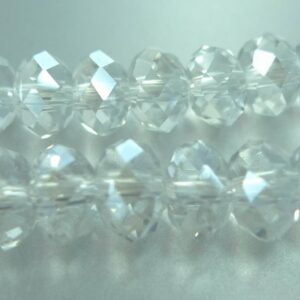 Facetterede krystalrondeller 4x6mm Klar