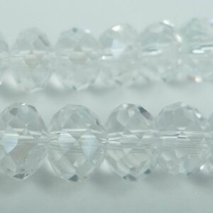 Facetterede krystalrondeller 6x8mm Klar
