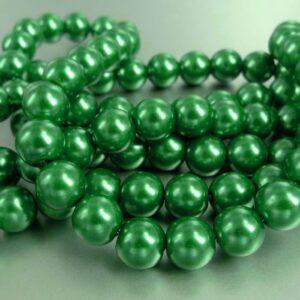 Grønne glasperler (coatede)