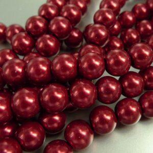 Røde glasperler (coatede)