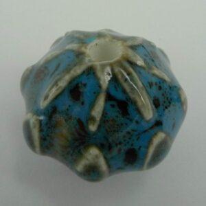 Stor keramik rondel, blå
