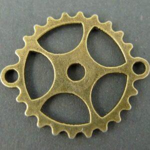 Tandhjuls mellemled i antik bronzefarvet 5 stk.