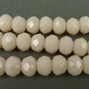 6x8mm Navajo white glasrondeller