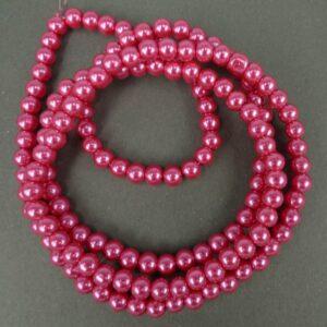 Coatede glasperler, soft pink 6mm