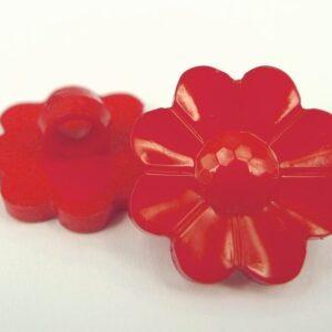 Røde blomsterknapper(10stk)