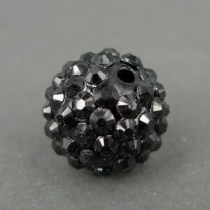 Black resin kugle 18mm