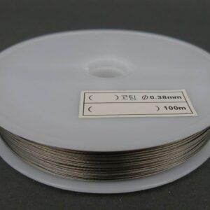 Sølvfarvet tigertail, 038mm ca 90 meter