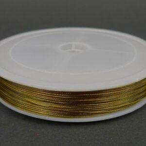 Guldfarvet tigertail, 0,5mm ca 80 meter