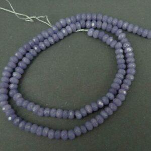 Rainy lavender, Facetterede rondeller i 'jade'