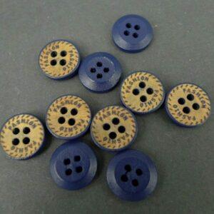 Træknapper med 4 huller(10stk)