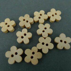 Lyse blomsterknapper(10stk)