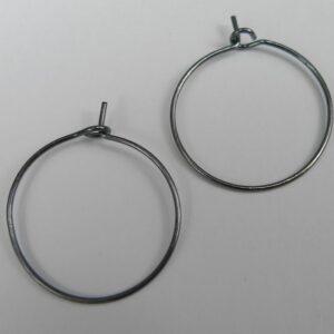 Grå hoops 20mm(10par)