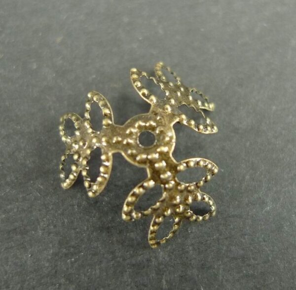 Blad perlekapper, antik bronze(20stk)