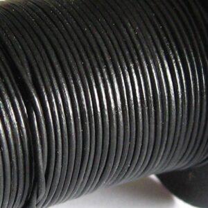 10 meter Lædersnøre sort 1mm