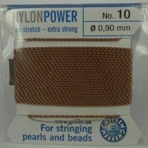 Camel Perletråd med nål, 0,9mm