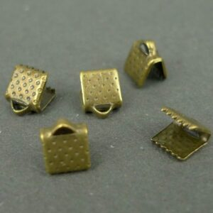 Bronze Små endestykker til bånd 10stk.