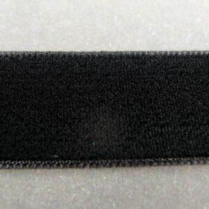Sort velourbånd 16mm