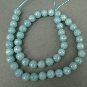 'Jade', Rainy Blue facetterede 8mm