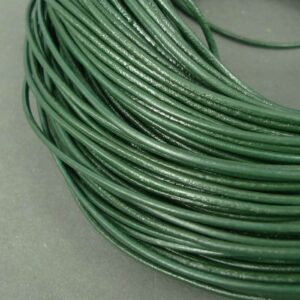 10meter Lædersnøre flaskegrøn 2mm