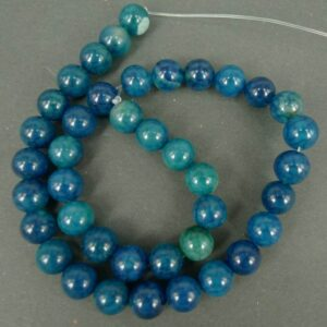 Agat, krakelerede Blå 10mm