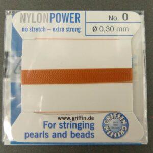 Cornelian Perletråd med nål, 0,3mm