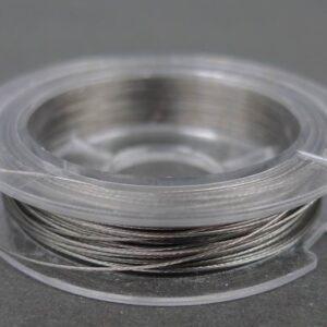Sølvgrå tigertail 0,3mm, 10m.