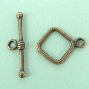 Kobberfarvede låse, firkantet(24 sæt)