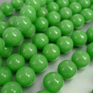 REST- Mashan'jade', æblegrøn 12mm(30 stk)