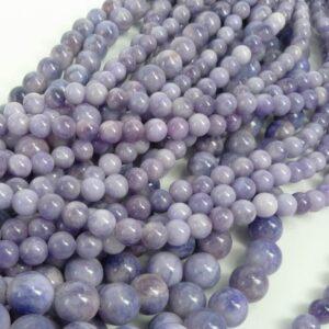 Rest- 'Jade' swirl lavender 10mm(12 stk)