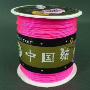 Neonpink nylon snøre, ca. 1mm(120m)