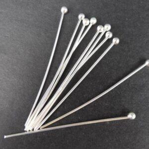 *FS perlestave med kugle 0,8mm(50stk)