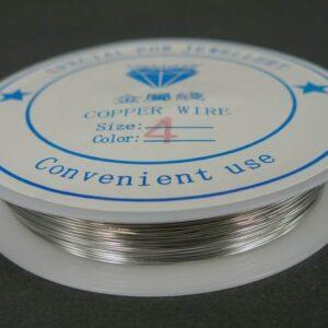Sølvfarvet kobbertråd 0,4mm