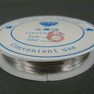 Sølvfarvet kobbertråd 0,6mm