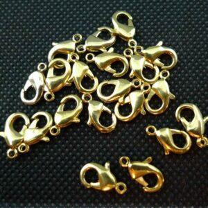 20 stk. guldfarvede karbinlåse