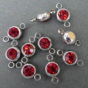 Perler, vedhæng og mellemled i stål