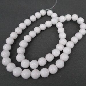 Hvid mashan jade 8 mm