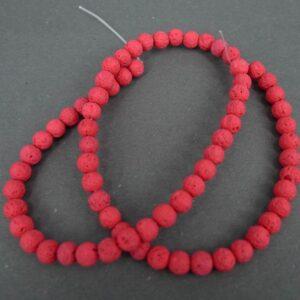 Rød lava 6mm
