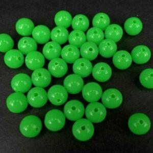 1200 stk. Grønne plast perler 6mm