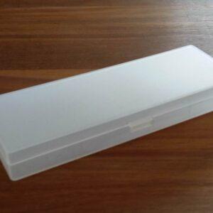 Matteret plastbox 18½x6½ cm