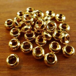 30 stk. Guldfarvede rondeller 6x3 mm