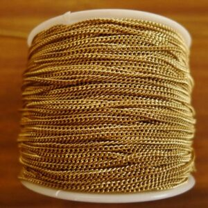 Tynd guldfarvet panserkæde 1½mm
