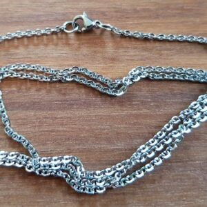 Færdig halskæde i stål, længde 54 cm