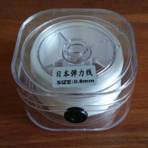Æske med flad elastiktråd, 0,8mm