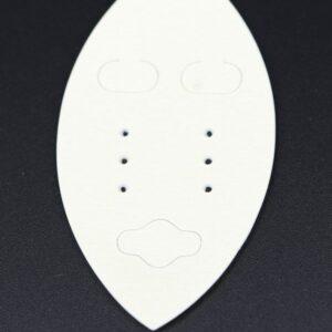Markiseformede Plastkort til øreringe, Beige(100stk)