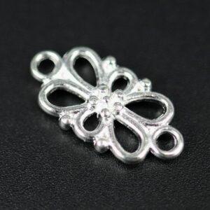 Fine sølvfarvede blomstermellemled (20stk)