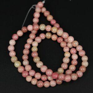 Runde perler i Rhodochrosit 4 mm
